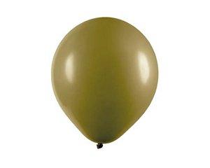 Balão Látex - 9 Polegadas Oliva - 50 unidades