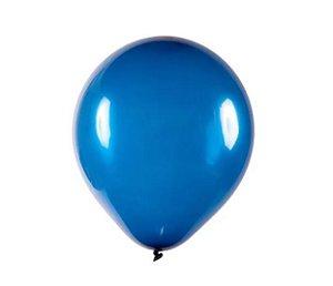 Balão Látex - 9 Polegadas Azul Marinho  - 50 unidades