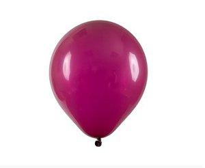 Balão Látex - 9 Polegadas Vinho - 50 unidades