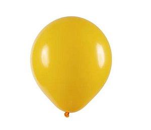 Balão Látex - 9 Polegadas Amarelo Ouro- 50 unidades