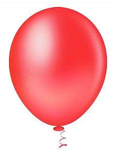 Balão Látex 8 Polegadas - Vermelho - 50 unidades