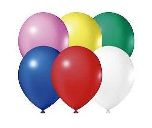 Balão Látex - 8 Polegadas - sortido - 50 unidades