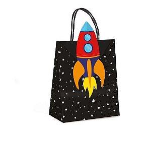 Sacola de Papel p Lembrancinha Festa Astronauta - 10 unidades - Cromus