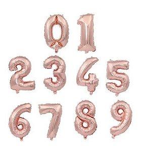 Balão Metalizado Dourado - 100 cm- Números