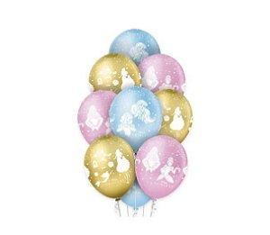 Balão Premium Princesas Disney - 12 Polegadas -10 unidades