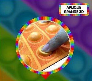 Aplique grande pop it 3D - Laranja