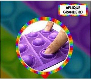 Aplique grande pop it 3D - Roxo