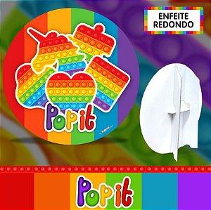 Enfeite redondo 3d - Pop It