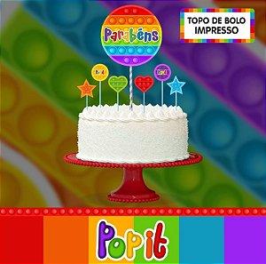 Topo de bolo - Pop It - EVA