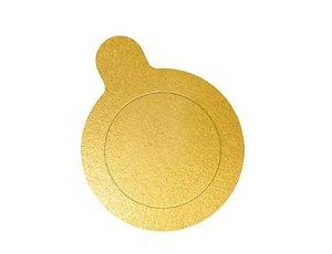 Base Laminada Para Doces 8cm Dourado 20 Unds