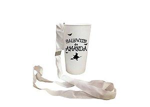 Copo Ecológico Halloween -Braco com Tirante Personalizado - 500ml