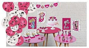 Kit Decorativo Só um Bolinho Festa Barbie - 90 Unidades