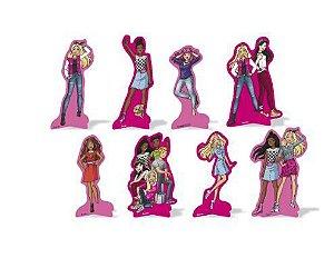 Decoração de Mesa Barbie 8 Unidades