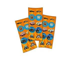 Adesivos Hot Wheels - 3 Cartelas Com 10 Adesivos Cada