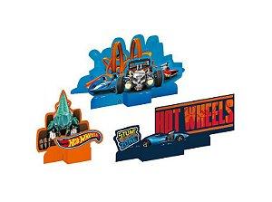 Decoração Especial de Mesa Festa Hot Wheels - 3 Unidades
