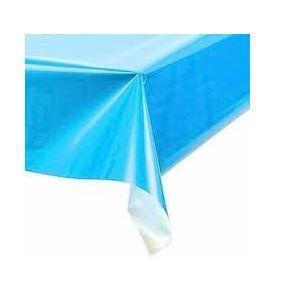 Toalha de Mesa Plástica - Azul Claro