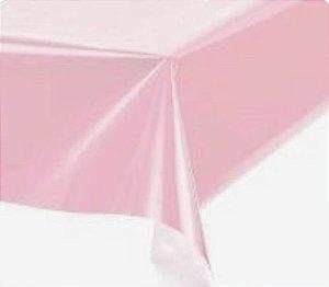 Toalha de Mesa Plástica - Rosa Claro