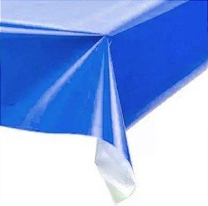 Toalha de Mesa Plástica - Azul escuro