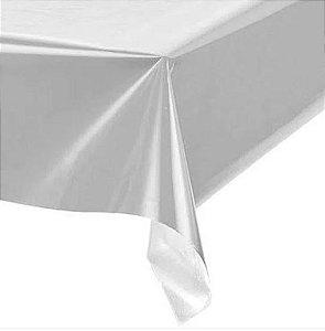 Toalha de Mesa Plástica -Prata