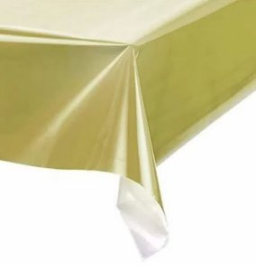 Toalha de Mesa Plástica -Dourado