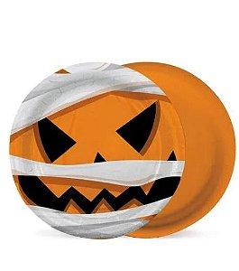 Prato Papel Noite Do Terror - 08 Unidades- Halloween