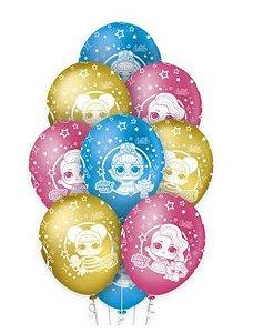"""Balão Látex LOL Surprise 12"""" 10 unid."""