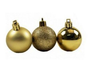 Bola de Natal N°8 - Sortido - Dourada