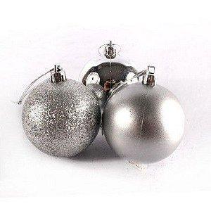 Bola de Natal N°8 - Sortido - Prata