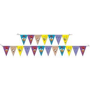 Faixa Feliz Aniversário - Galinha Pintadinha