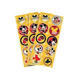 Adesivo Redondo - Mickey Clássico - 30 unidades