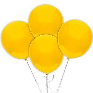 Balão Látex 6,5 Polegadas - Amarelo - 50 unidades