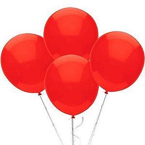 Balão n° 9 Polegadas -  Vermelho - 50 und
