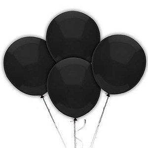 Balão N° 9 Polegadas - Preto Art Latéx - 50 und