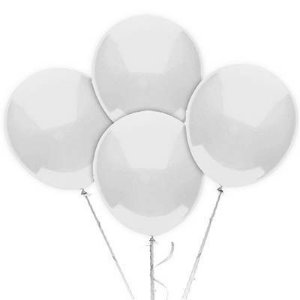 Balão N° 9 Polegadas - Branco Art Latéx - 50 unidades