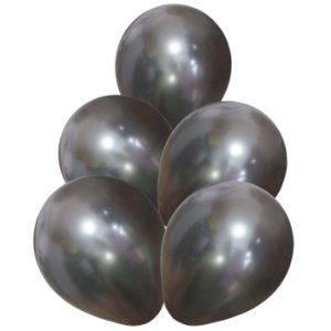 Balão Látex 9 Polegadas - Prata- 50 unidades