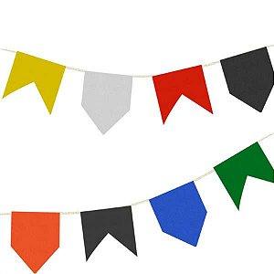 Bandeirinha Junina Plástica Grande - 10 metros