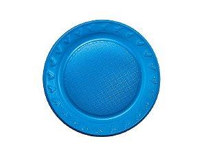 Prato Descartável - Azul - 15cm