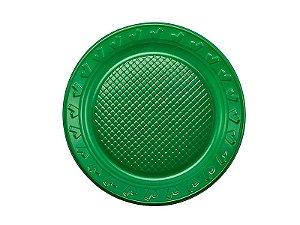 Prato Descartável - Verde - 15cm