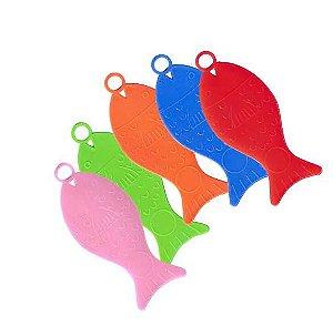 Peixinho Plástico Colorido - 10 unidades