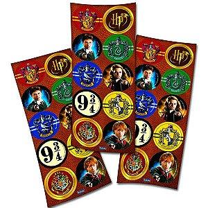 Adesivo Redondo - Harry Potter- 60 adesivos