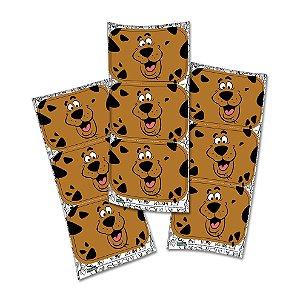 Adesivo Retangular - Scooby Doo - 12unidades