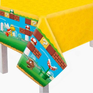 Toalha de Mesa Principal Plástica - Super Mario Bros