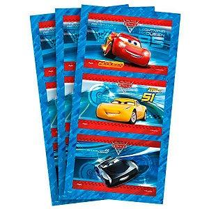 Adesivo Retangular - Carros 3 - 03 cartelas