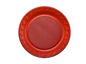 Prato Descartável - Vermelho - 15cm