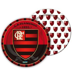Prato de Papel - Flamengo - 08 unidades