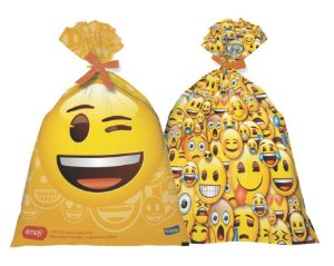 Sacola Plástica Surpresa - Emoji - 08 unidades