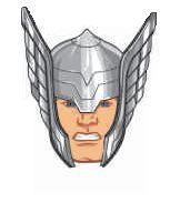 Mini Carinhas EVA - Thor - 06 unidades