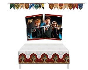 Kit Decoração Decoração - Harry Potter -  Painel Faixa Toalha De Mesa