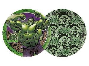 Prato de Papel - Hulk Animação - 08 unidades