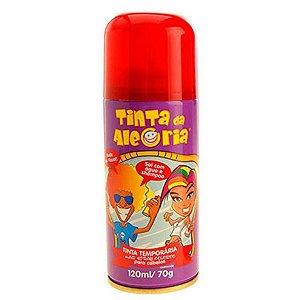 Tinta Spray de Cabelo - Vermelho